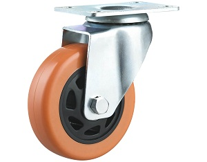 Medium Duty Caster with Polyurethane Wheel Swivel Top